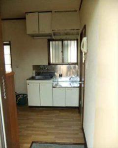 アパートのキッチン交換、リフォーム施工例 blockkitchen wetroom