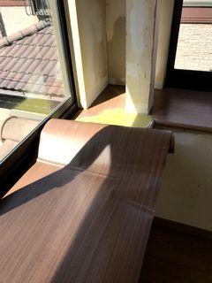窓枠日焼け、はがれ補修 ダイノック/リアテックフィルム施工例 madowakurepair dinocreatec