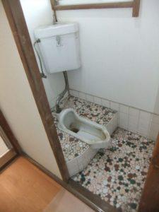 トイレリフォーム,和式から洋式,木造アパート,タイルからCF wayoutoilet toiletlixiltoto