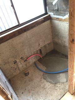 戸建ユニットバス TOTO サザナ1216 アクセントウォール施工例 unitbath