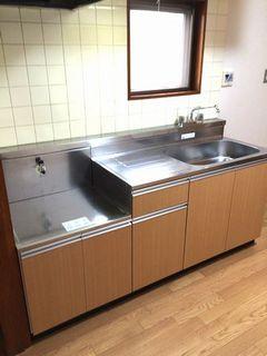 柏市の賃貸マンション、キッチン流し台交換 blockkitchen