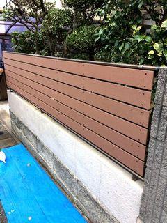 フェンス目隠し,人工木材,樹脂ウッド材 exterior