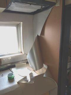大建のキッチンパネルはがれ補修 repairmaintenance kitchenpanel