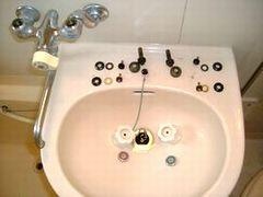 水栓パッキン,スピンドル,コマ交換 waterleak