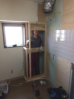システムキッチンリフォーム ライトウッド柄(ブラウン)の施工例 system-kitchen