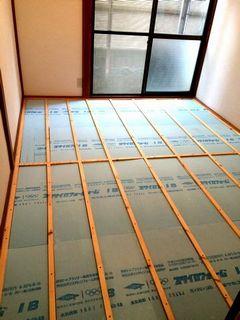 和室から洋室リフォーム フローリング、天井クロス施工例 wayoureform renovation floor