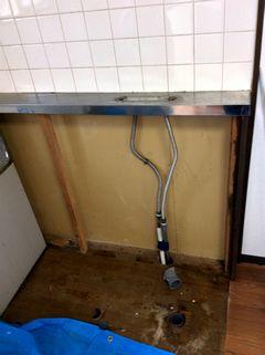 賃貸アパート キッチンリフォーム ダイノックシート施工例 blockkitchen