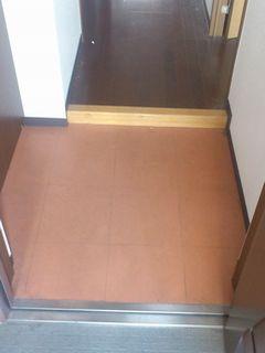 マンション玄関 土間 フロアタイル施工例  floortile