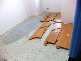 中古マンション 洋室カーペットから防音フローリングL45へ floorl45l40