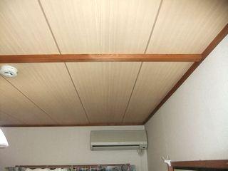 和室天井の補修例 和天井から和天柄のクロスへ wayoureform cloth