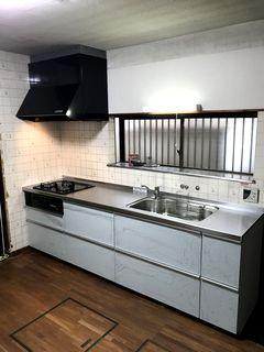 TOTOミッテ システムキッチン  トリコアクアの施工例  wetroom system-kitchen