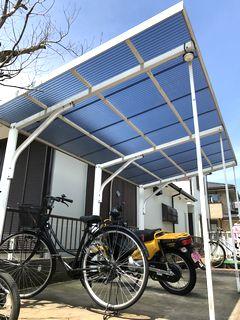 サイクルポート ポリカ波板交換工事 commonareas exterior