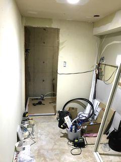 サンワカンパニー プレーンVアップライト 引き出しタイプ 1200 施工例 washbasin wetroom unitbath closet