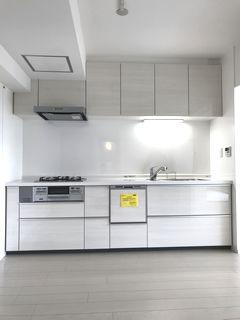 テラホワイトウッド TOTO システムキッチン ミッテ 施工例 wetroom system-kitchen