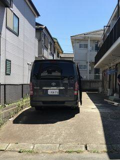 駐車場と駐輪場のライン引き アパート敷地内 commonareas