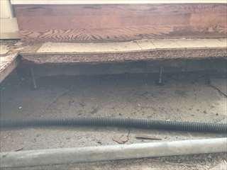 マンション二重床パーティクルボードの修繕 湿気、漏水による補修施工例 bankyofloor